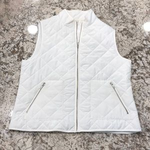Ann Taylor LOFT Puffer Vest White